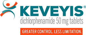 KEVEYIS® (dichlorphenamide) logo